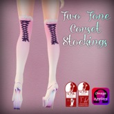 ::Love Lace:: Pink & White Corset Stockings (Omega & Slink)