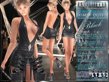 Bella Moda: Striminzito Black Skimpy Dress & Shoes Outfit - Fitted for Maitreya/Physique/Hourglass/Classic+Std FULL