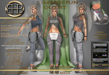 !!BHB!! SUMMER FUN COMPLETE OUTFIT WITH HEELS AND HUD sale #bhb32#