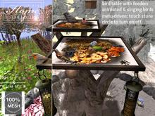 Birdtable, bird, table, feeding, songbird