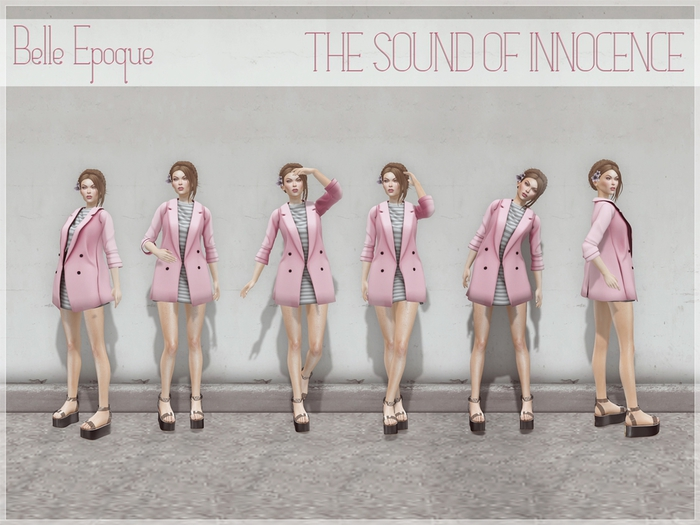 Belle Epoque Poses { The sound of innocence }