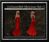 Cele'Sations Mesh Tiffany Gown ~ Red  [ Maitreya Belleza TMP Eve Slink}