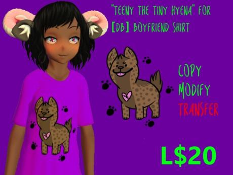"""Teeny the Tiny Hyena"" texture for [BD] Boyfriend Shirt"