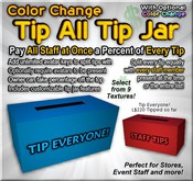Copyable Tip All Tip Jar - Color Change - Tip Everyone at Once - Splits Tip with All Staff!