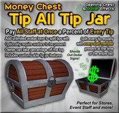 Copyable Tip All Tip Jar - Money Chest - Tip Everyone at Once - Splits Tip with All Staff!