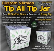 Copyable Tip All Tip Jar - Custom Version - Tip Everyone at Once - Splits Tip with All Staff! - Use Any Object