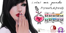 (.vix) Mr. Panda ~ Slink, Maitreya & Omega Nails UPDATED