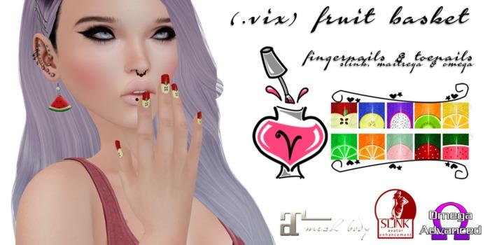 (.vix) Fruit Basket ~ Slink, Maitreya & Omega Nails