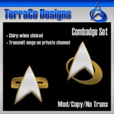 TerraCo Combadge Set