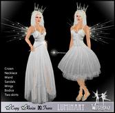 [Wishbox] Luminary - Celestial Goddess Fae Dress w/ Wings, Crown, Scepter & Gown Fairy Fantasy