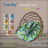 "[CIRCA] - ""Luna Bay"" - Hanging Chair - Summer Mix TieDye"