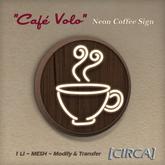 """[CIRCA] - """"Cafe Volo"""" Neon Coffee Sign"""