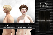 Uw.st   Cyndi-Hair  M-Black