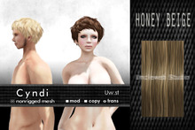 Uw.st   Cyndi-Hair  M-Honey beige