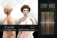 Uw.st   Cyndi-Hair  M-Ivory wood