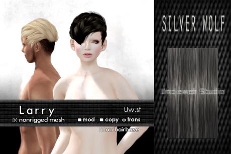 Uw.st Larry-Hair M-Silver wolf