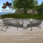 [sf] beachcomber canoe - rustic - boxed
