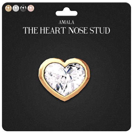 Amala - The Heart Nose Stud