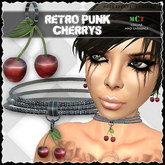 *NT* retro punk cherries collar & earrings / Neko Style