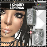 *Needful Neko Things* 4 Cheeky Lip Rings with & without bling