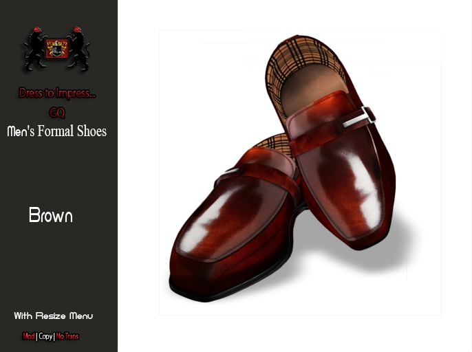 GQ Formal Shoes - BROWN - By 69 Park Ave