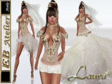 EB Atelier  **LAURA ** wedding dress w/ OMEGA SLINK LOLAS Appliers - italian designer