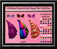 [CS] Texture & Color Change Neko Avatar Tail & Ears Acessories