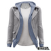 TETRA - Leather Jacket with Hoodie (Ash)