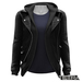 TETRA - Leather Jacket with Hoodie (Black)