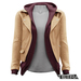 TETRA - Leather Jacket with Hoodie (Nude)