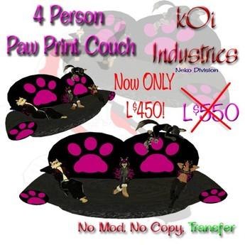 Neko Pawprint Couch 4 poses