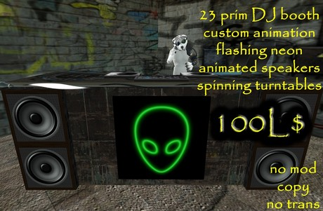 Industry DJ Booth - Alien