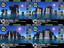 Waterfalls - Chyra Waterfall - Design 1 to 4 - FATPACK - COPY/MOD