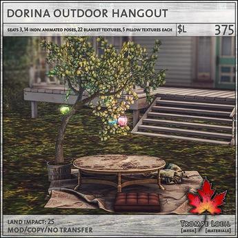 Trompe Loeil - Dorina Outdoor Hangout [mesh]
