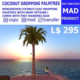 BeachBonanza MAD Dropping coconut/leaf Palmtree [Boxed]