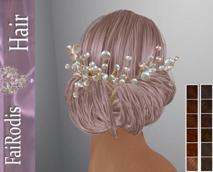 FaiRodis Letty hair DEEP SHATEN+pearl decoration