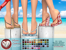 "CRAZY BLACK FRIDAY WEEKEND !!!::MA:: WEDGE FlipFlops ""Mon Coeur"" - EXCLUSIVE 50 COLORS"