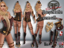 Steampunk fashion women outfit
