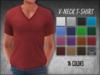[Phunk] Mens V-neck T-shirt (16 Colors)