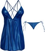 Blueberry - Selena Mesh Dress - Maitreya Lara, Belleza (All), Slink Physique Hourglass - Electric