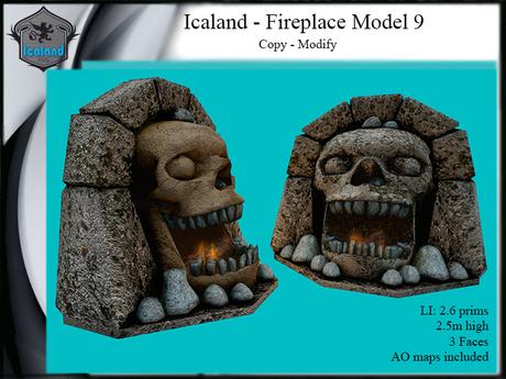 Icaland - Fireplace Model 9