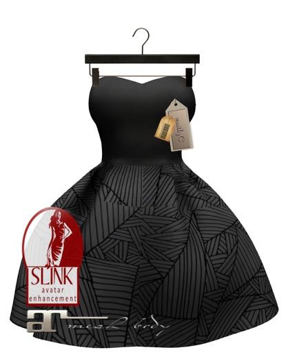 EmilyC Dress Umbrella Maitreya Slink Venus // Black