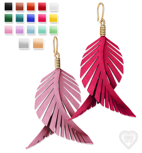 Bowtique - Colored Feather Earrings