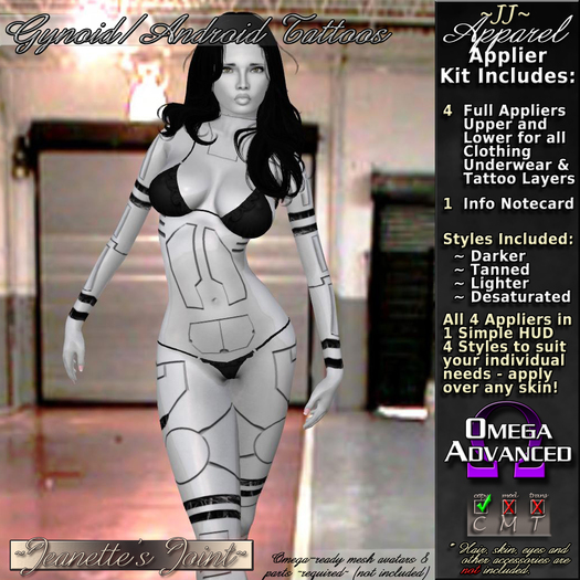~JJ~ Gynoid/Android Tattoos Omega Applier