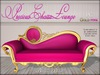 Boudoir Precious Chaise Lounge Gold/Pink PG