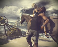 RM ~ Art Of Poses ~  Couple  posing horse