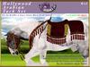 *E* Hollywood Arabian Saddle Set [Boxed] RH Gypsy Vanner Red