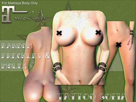 Random Freckles & Moles for Maitreya