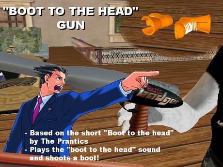 Second Life Marketplace Boot To The Head Gun