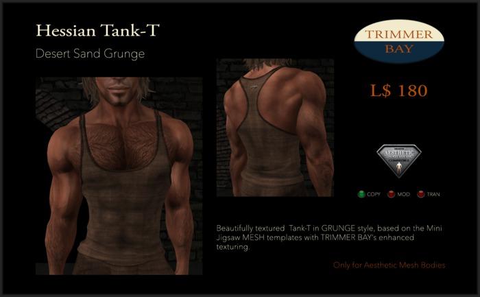 Tank T Grunge Desert Sand